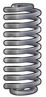replacement coil springs - front coil springs and rear cargo coil springs