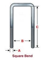 Square Bend U-bolts - Stengel Bros Inc